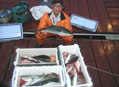 2011年6月12日(日)若狭湾でハマチの65cmを釣られました
