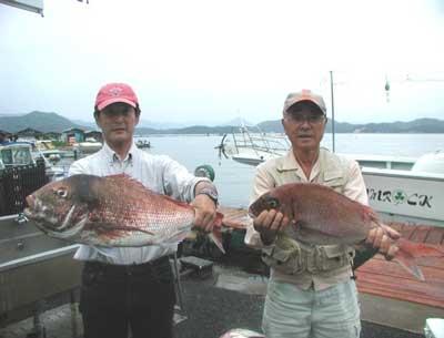 2011年6月18日(土)若狭湾で鯛の60cm前後を釣られました