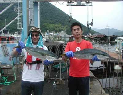 2011年6月19日(日)若狭湾でハマチの68cmを釣られました