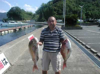 2011年8月14日(日)若狭湾でマダイの69cmを釣られました