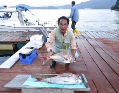2011年9月28日(水)若狭湾で鯛の80.0cmを釣られました