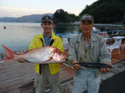 2011年10月20日(木)若狭湾で鯛や鯵を釣られました