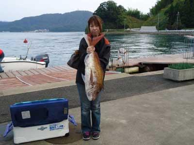 2011年11月3日(木)若狭湾で鯛の83cmを釣られました