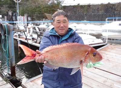 2012年2月11日(土)若狭湾で鯛やメダイを釣られました