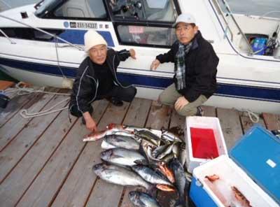 2012年3月1日(木)若狭湾でメダイや鯵を釣られました