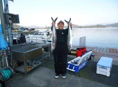 2012年3月27日(火)若狭湾でサワラやサゴシを釣られました