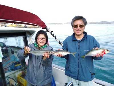 2012年4月8日(日)若狭湾で鯵の40cmを釣られました