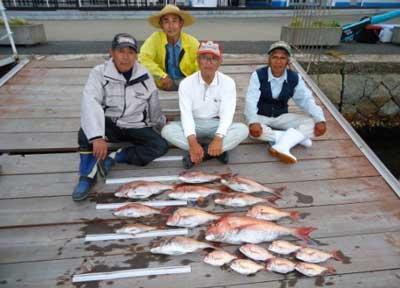 2012年6月3日(日)若狭湾で鯛の75cmを釣られました