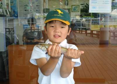 2012年6月24日(日)若狭湾でキスの24.3cmを釣られました