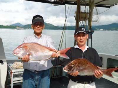 2012年7月1日(日)若狭湾で鯛の76.0cmを釣られました