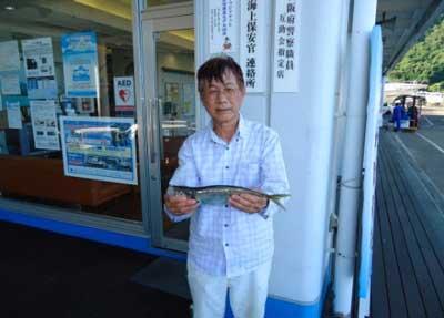2012年7月16日(月)若狭湾で鯵の40.0cmを釣られました