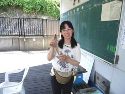 2012年8月3日(金)若狭湾でキスの28.9cmを釣られました