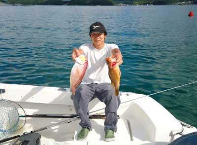 2012年9月16日(日)若狭湾でアマダイやアコウを釣られました