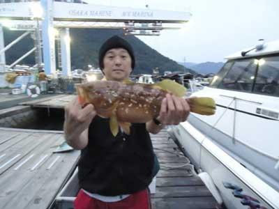 2012年10月14日(日)若狭湾でアコウの40.0cmを釣られました