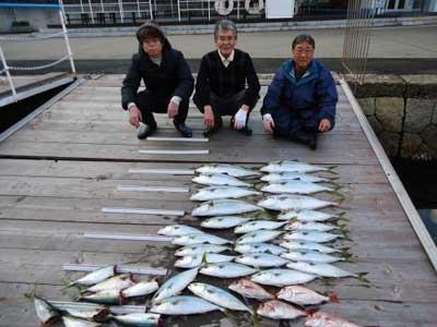 2013年2月2日(土)若狭湾でヒラマサやハマチやタイを釣られました