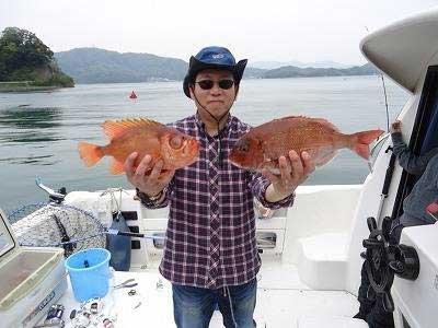 2013年4月29日(月)若狭湾で鯛やチカメを釣られました