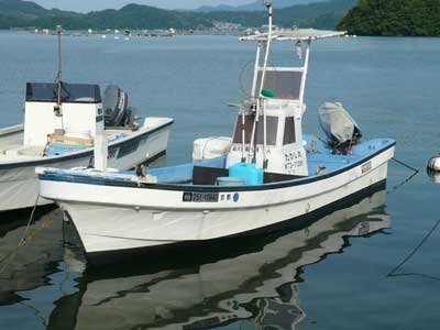 和船の名前は「たかし丸」です
