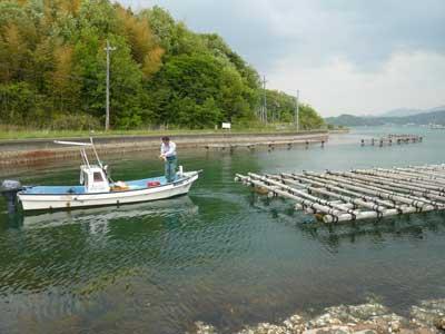 2011年5月8日(日)海岸の作業場所へフロートの追加と修理を兼ねて曳航しました
