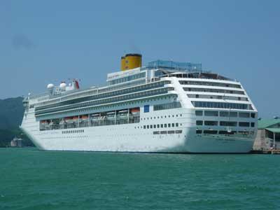 コスタ・ビクトリアが6月7日に初入港しました